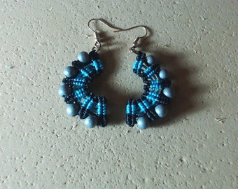 Pair of macrame earrings