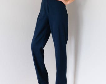 Vintage 70s 80s Sailor Navy Trousers 27 Waist Small S
