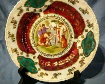 Antique Ackermann and Fritze porcelain Plate