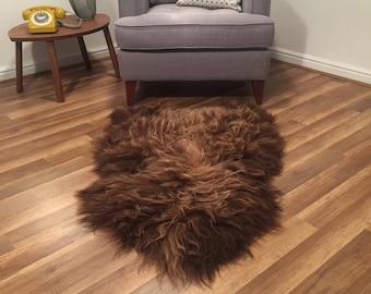 Icelandic Long-haired Sheepskin Rug