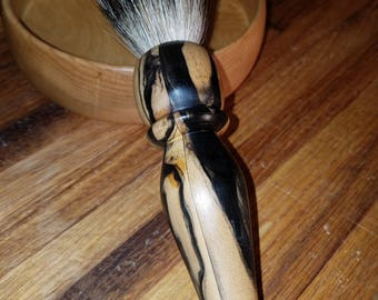 Large Handmade Spalted Tamarind Shaving Brush