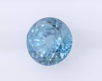 3.75 ct Round Blue Zircon, Natural Blue Zircon, Loose Blue Zircon, Natural Loose Gemstone, Loose Zircon, Natural Zircon Gem, Quality Gem