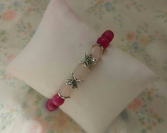 Pink Natural Gemstone Bracelet