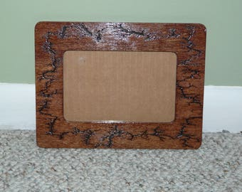 Wood Picture Frame with Lichtenberg Figures