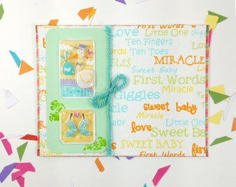 Baby greeting card. Baby shower greeting card