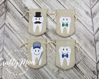 Tooth Fairy Bag, Tooth Fairy Pouch, Bowtie Tooth Fairy Bag, Tooth Fairy Sack, Keepsake