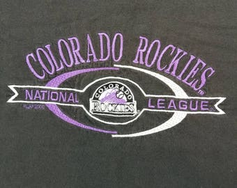 Vintage Embroidered Colorado Rockies Shirt Size Large