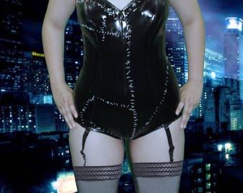 Custom Catwoman  Latex/Datex suspender body