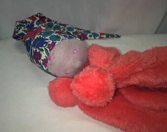 """Doudou """"Chocoline"""" 22X17CM fabric doll, waldorf toy"""