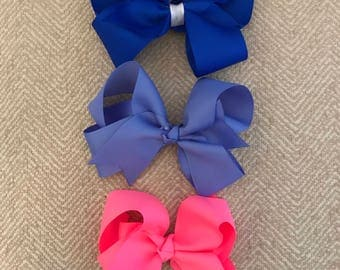 SET OF 3 6 inch Grosgrain Twisted Bow