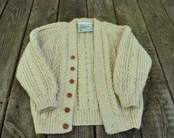 Child's British Wool Cable Knit Sweater