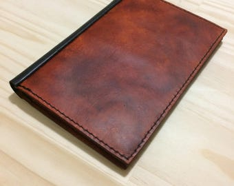 Slim Refillable Leather Journal / Notebook Cover + 3 Refills