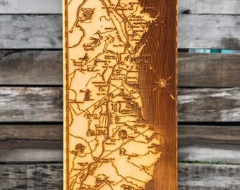 Appalachian Trail Wood Map, Wall Art featuring the Appalachian Trail