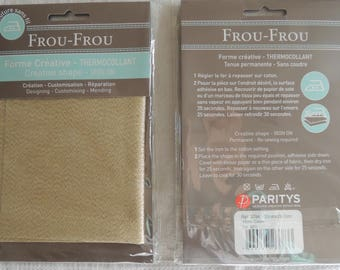 Fusible fabric all that glitters gold glitter