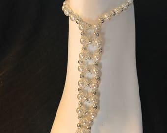 Bridal Wedding Foot Pearls - Beaded Bridal Sandals - Pearls Sandals