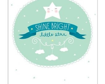 Shine Bright Poster - Childrens Wall Decor - Posters And Prints