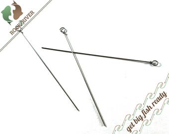 Spinner Bait Straight Wire Shafts DIY Fly Fishing Trout Salmon Silver Fish On Outdoors Sportsman Angler