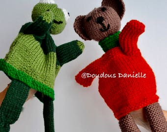 The Frog and Bear Puppets