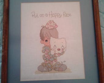 Put On A Happy Face Precious Moments Cross Stitch