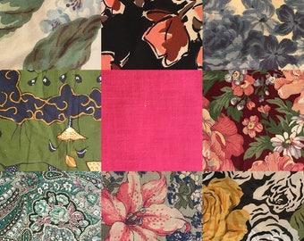 Assorted Vintage Fabric Remnants, 1 lb.