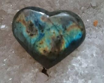 Labradorite Rainbow 13.82 Gr-heart