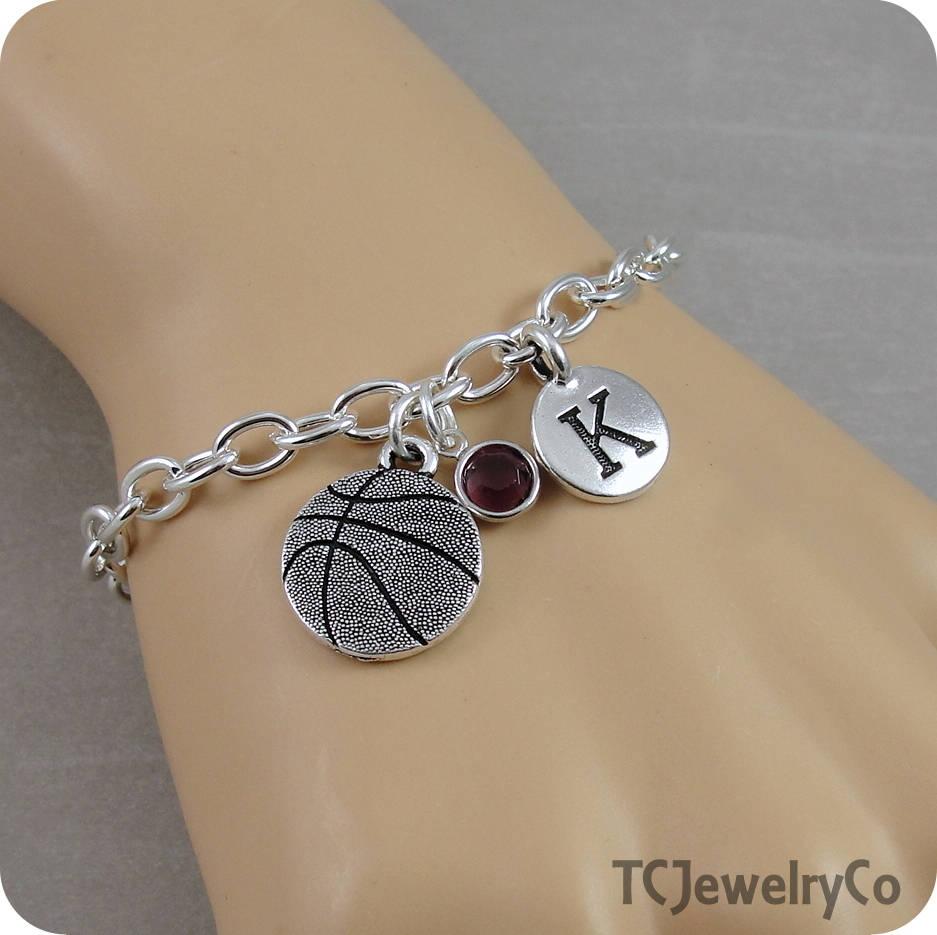 Basketball Charm Bracelet Basketball Bracelet Sports