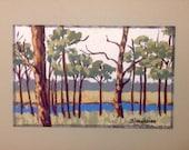 original art|florida art|pine tree art|nature art|trees art|miniature art|landscape art|landscape painting|original artwork|wall art