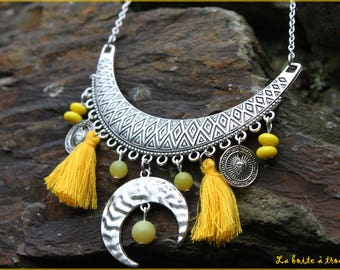 """""""Moon reflection"""" silver necklace"""