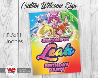 Glitter Force welcome sign,Glitter Force party,Glitter Force invite,Glitter Force birthday