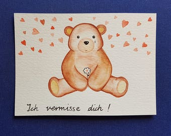 Handmade watercolor card / greeting card