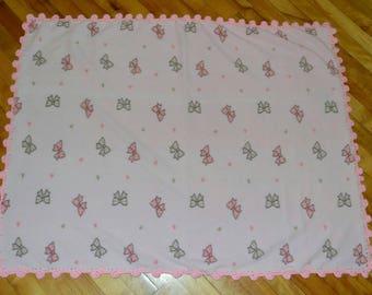 Free shipping :Baby girl fleece blanket