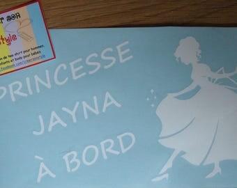 custom baby on board car stickers