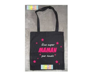 "Personalized bag tote bag ""one great Mom"""