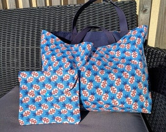 Blue pineapple BeachBag