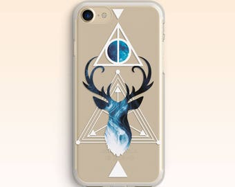 Harry Potter iPhone 7 Case iPhone 5s Deer Case iPhone 8 Cover iPhone 6s Plus Clear Hogwarts case for Samsung S7 case for Galaxy S6 S5 022