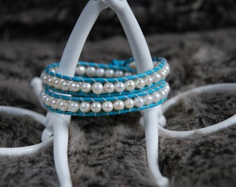 Double Pearl Wrap Bracelet