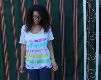 Striped Tie Dye Shirt