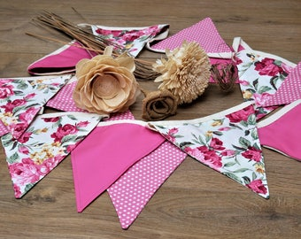 Stunning Floral Bunting in Pinks and Creams