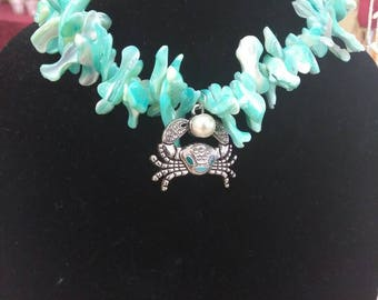 Crab Shell Necklace
