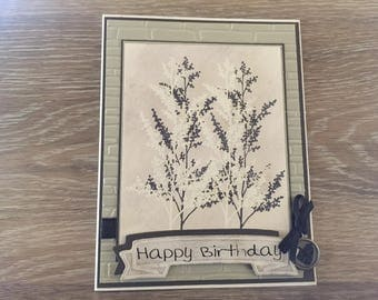 Stamped, Embossed Birthday Card