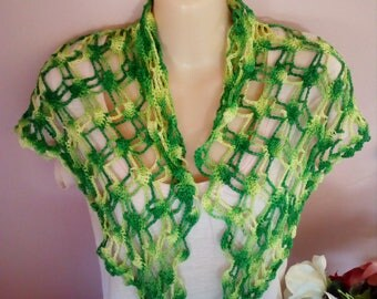 Spring spaced shell shawl