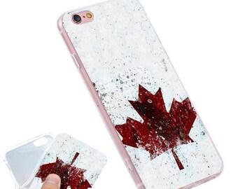 Canada Maple Leaf Phone Case, Hand-drawn Canada Maple Leaf iPhone Case / Fits iPhone 5, iPhone 6, iPhone 7