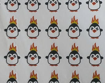 Angry penquine, planner sticker functional/ fun/ character