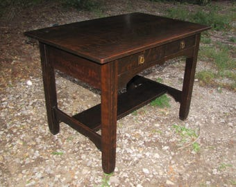 Antique Stickley Brothers Library Table/ Desk W2373