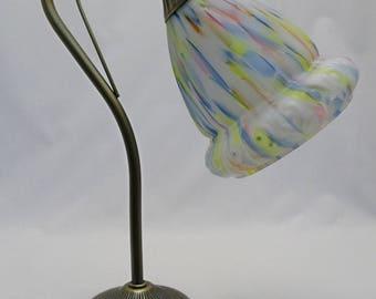Art Deco Shade & Boston Antique Brass Table Lamp