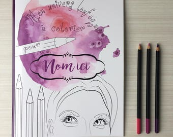 Coloring book personalized, where I write the name desired on the cover