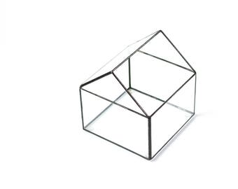 House Terrarium, Glass House, Glass Storage, Glashaus, Glass Geometric Terrarium, Glass House Terrarium, Glass Terrarium