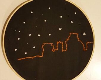 "Winter Is Coming- Embroidery 8"" Hoop Art"