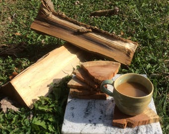 Cherry Firewood Coasters