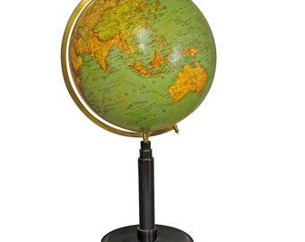 antique colorful earth globe published by Wegweiser ca. 1930